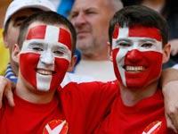 אוהדי נבחרת דנמרק / צילום: רויטרס
