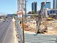 עבודות להקמת הרכבת הקלה בתל אביב / צילום: תמר מצפי