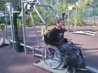 """מתקן נגיש לאנשים עם מוגבלויות בגינה ציבורית בחולון / צילום: ארגון """"בזכות"""""""