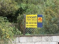 שלט למכירה של אנגלו סכסון / צילום: איל יצהר