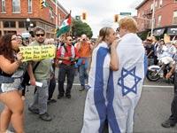 יהודים מותקפים על רקע הפגנה פרו פלשתינית / צילום: רויטרס
