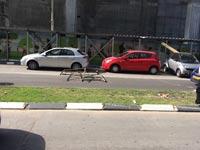 תאונה באתר בניה של חג'ג ברחוב הארבעה בתל אביב