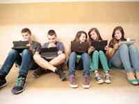 תלמידי בית הספר אורט רמת יוסף בבת ים / צילום: כפיר זיו