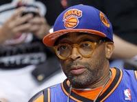 הבמאי ספייק לי במשחק של ניו יורק ניקס, NBA / צלם: רויטרס