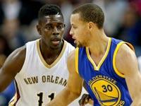 סטפן קארי, NBA, גולדן סטייט ווריירס מול ניו אורלינס פליקנס / צלם: רויטרס