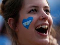 אוהדת נבחרת ארגנטינה, מונדיאל 2014 / צלם: רויטרס