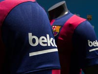 המפרסמת החדשה על שרוולי מדי החולצה של ברצלונה Beko / צלם: אתר ברצלונה