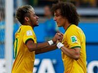 ברזיל מול צ'ילה, מונדיאל 2014, ניימאר, דויד לואיז / צלם: רויטרס