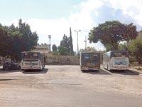האוטובוסים על הקרקע ביהוד / צילום: אאורה ישראל