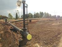 עבודות חיבור לגז טבעי במפעל נשר / צילום: יחצ