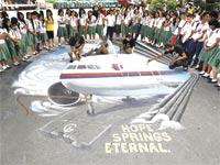 חיפושים אחר המטוס המלזי / צילום: רויטרס