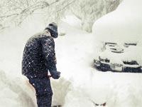 השלג מכה במדינת ניו יורק / צילום: רויטרס