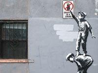 יצירת רחוב של בנקסי   / צילום מהאתר של בנקסי