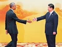 שי ג'ינפינג וברק אובמה / צילום: רויטרס
