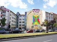 עבודת הקיר של זיידמן בברלין / צילום: יחצ