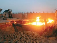 פיגוע בצינור הגז של EMG / צילום: רויטרס