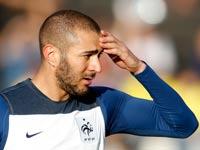 קארים בנזמה מתאמן עם נבחרת צרפת / צלם: רויטרס