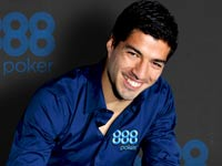 לואיס סוארז חותם כפרזנטור של 888 / צלם: אתר 888