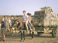 """חגיגת שבועות בקיבוץ, 1960 / צילום: לע""""מ"""