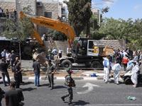 פיגוע  טרקטור בירושלים / צילום: אוריה תדמור