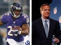 רוג'ר גודל קומישינר ה-NFL וריי רייס / צילומים: רויטרס
