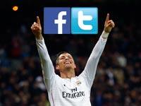 כריסטיאנו רונאלדו ריאל מדריד טוויטר ופייסבוק לוגו  / צילום: רויטרס ויחצ