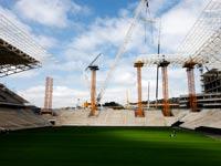 האצטדיון שנבנה בסאו פאולו, ברזיל, לקראת מונדיאל 2014 / צלם: רויטרס