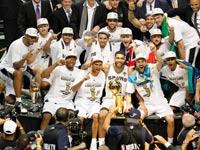 סן אנטוניו ספרס חוגגת זכייה באליפות ה-NBA / צילום: רויטרס
