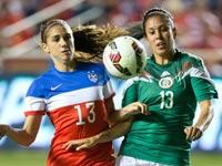 """כדורגל נשים, נבחרת מקסיקו מול ארה""""ב / צלם: רויטרס"""