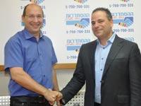 דורון ברזילי ואבי ניסנקורן / צילום: שגב יהודה, באדיבות דוברות ההסתדרות