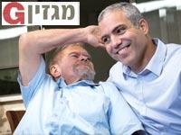 """ד""""ר נדב נבון ואביו קותי / צילום: שלומי יוסף"""