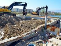 הריסת פארק מים בקריית חיים / צילום: צבי רוגר - דוברות עיריית חיפה
