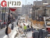 עבודות הרכבת הקלה בירושלים / צילום: איל יצהר