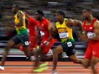 ריצת 100 מטר באולימפיאדת לונדון 2012 / צלם: רויטרס