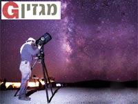 דיונות אליפז עם הטלסקופ הנייד ושאר אביזרי צפייה / צילום:יובל פדר