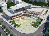 הדמיה של המרכז המסחרי בחריש /צילום: יחצ