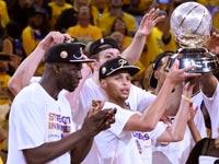 גולדן סטייט חוגגת זכייה באליפות המערב ב-NBA / צלם: רויטרס