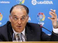 חבייאר טבאס נשיא מינהלת הליגה של הכדורגל הספרדי / צלם: רויטרס