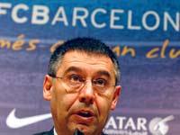 ג'וזפ מאריה ברתומיאו נשיא ברצלונה / צלם: רויטרס