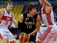 נבחרת דרום קוריאה בכדורסל / צלם: רויטרס