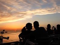 שקיעה בסן אנטוניו איביזה / צילום: רויטרס