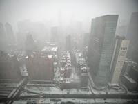 מנהטן, ניו יורק - סופת ג'ונו / צילום: רויטרס
