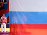 דגל רוסיה מונף במהלך אולימפיאדת לונדון 2012 / צלם: רויטרס