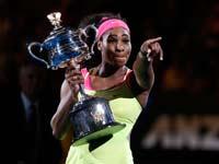 סרינה וויליאמס זוכה באליפות אוסטרליה 2015 / צלם: רויטרס