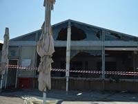 מסעדת מול ים אחרי השריפה  / צילום:תמר מצפי