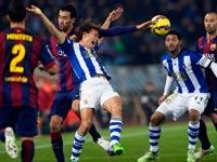 ברצלונה מול ריאל סוסיאדד, ליגה ספרדית / צלם: רויטרס
