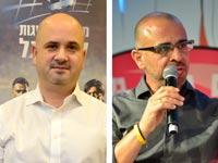"""איציק בנבנישתי מנכ""""ל פרטנר, אורן חסון מנכ""""ל מינהלת הליגה בכדורגל / צילומים: תמר מצפי"""