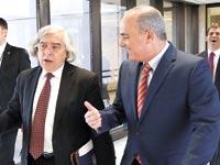 """יובל שטייניץ עם מזכיר האנרגיה האמריקאי ד""""ר ארנסט מוניז / צילום: שמוליק אלמני"""