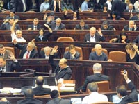 הצבעה על התקציב בכנסת, 2011 / צילום: איל יצהר