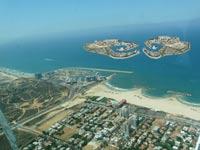 הדמיית איים מלאכותיים מול הרצליה / צילום: עיריית הרצליה